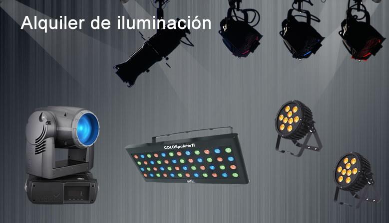 Alquiler de iluminacion