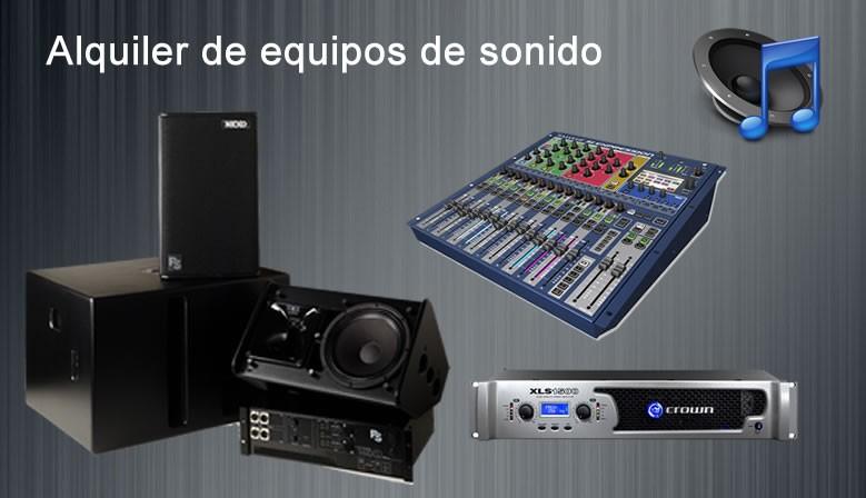 Alquiler equipos de sonido